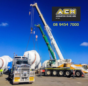 Mobile crane hire Perth WA.