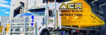 Heavy truck road freight transport service Perth WA.