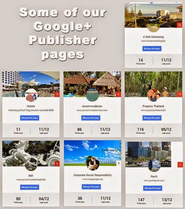 Google+ Publisher Pages